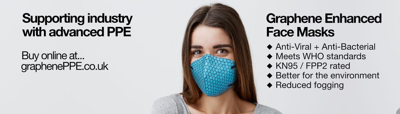 Graphene Enhanced Reusable Face Mask KN95 / FFP2 PPE